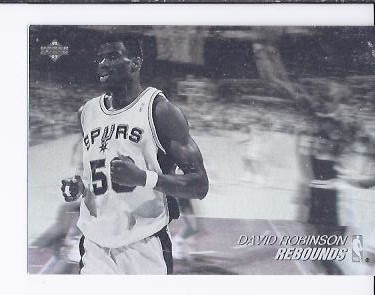 1991-92 Upper Deck Award Winner Holograms #AW6 David Robinson/Rebounds Leader