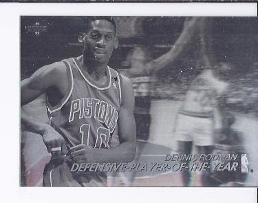 1991-92 Upper Deck Award Winner Holograms #AW9 Dennis Rodman/Defensive POY