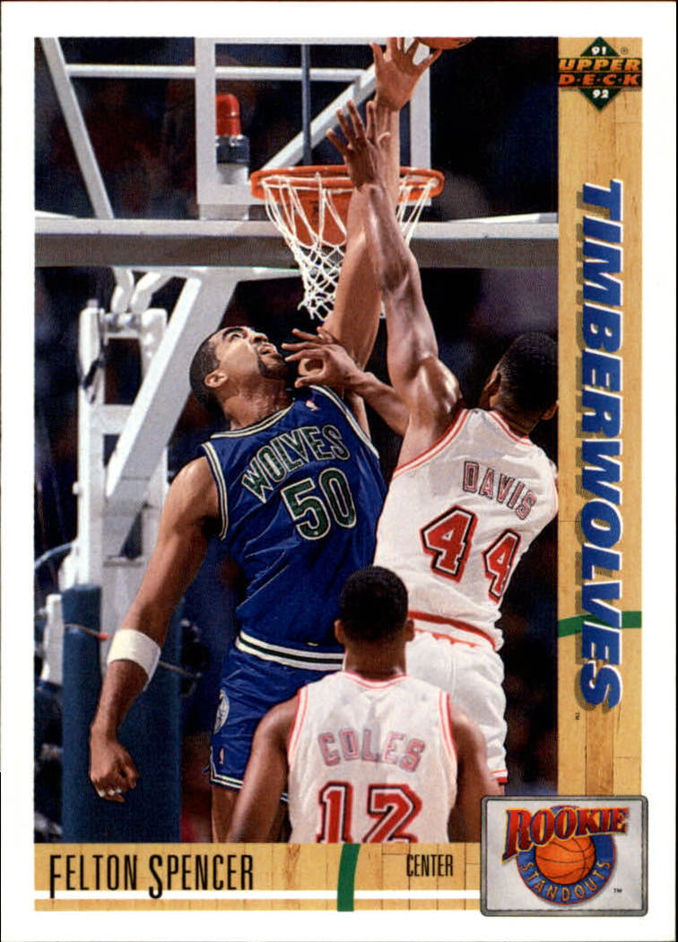 1991-92 Upper Deck Rookie Standouts #R4 Felton Spencer
