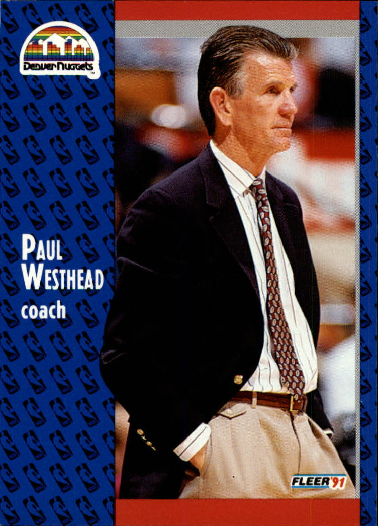1991-92 Fleer #53 Paul Westhead CO