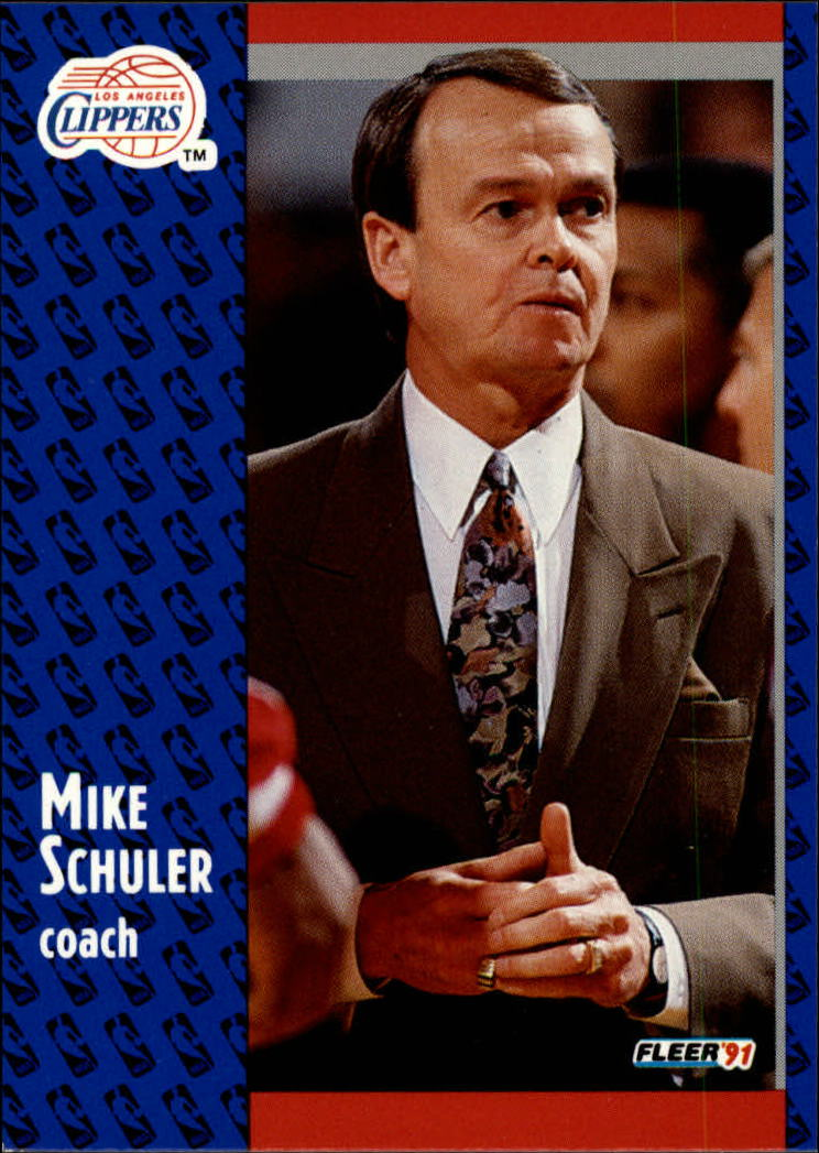 1991-92 Fleer #95 Mike Schuler CO