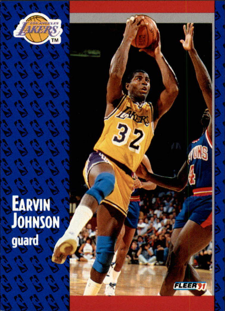 1991-92 Fleer #100 Magic Johnson