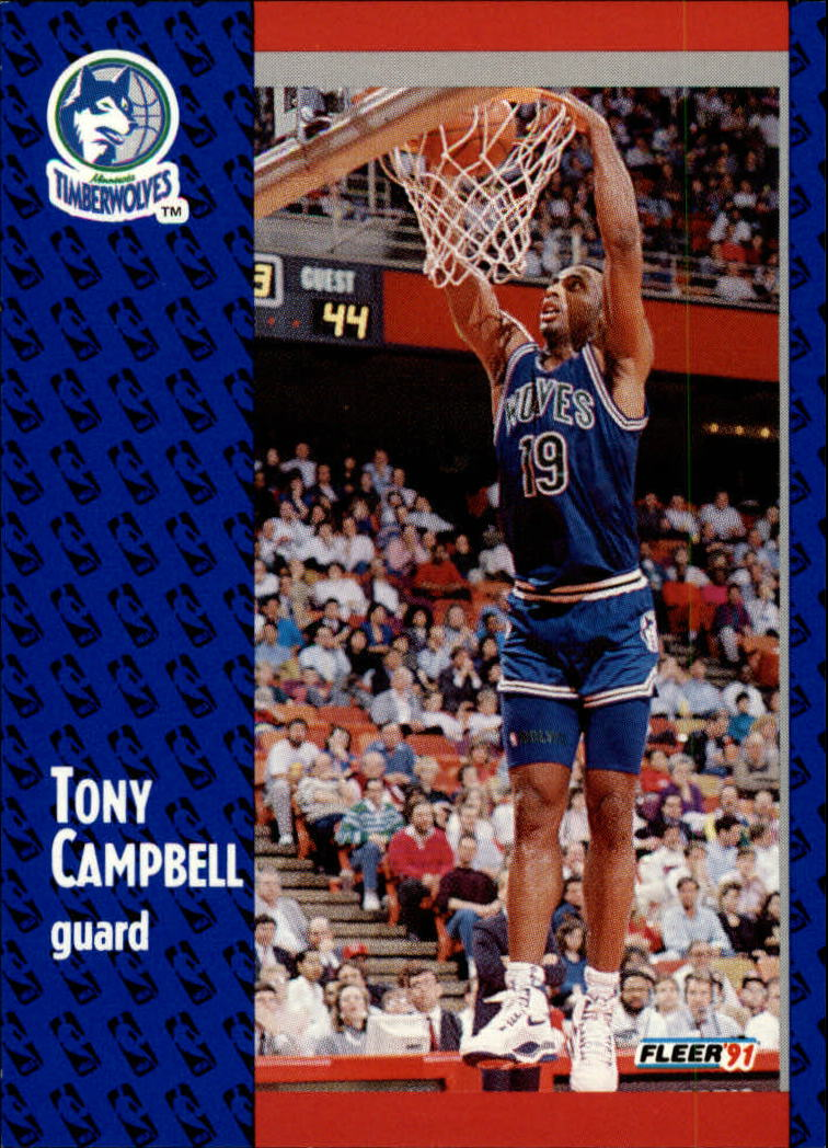 1991-92 Fleer #121 Tony Campbell