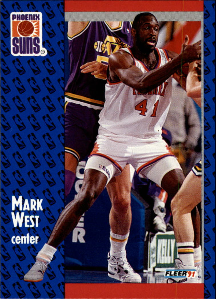 1991-92 Fleer #165 Mark West