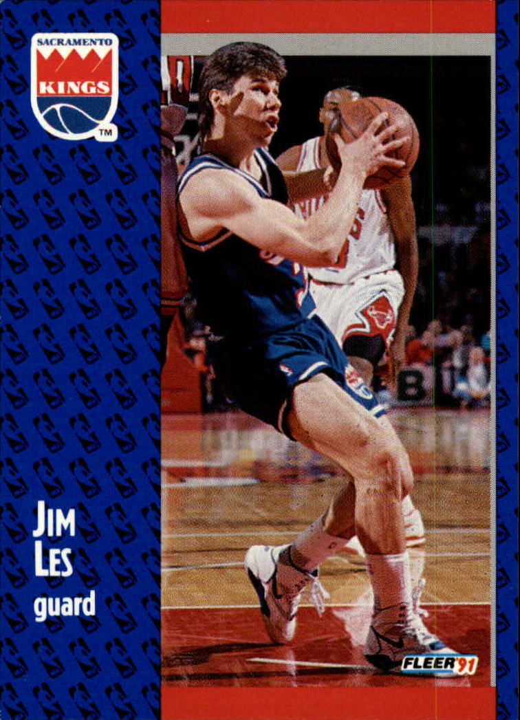 1991-92 Fleer #176 Jim Les RC