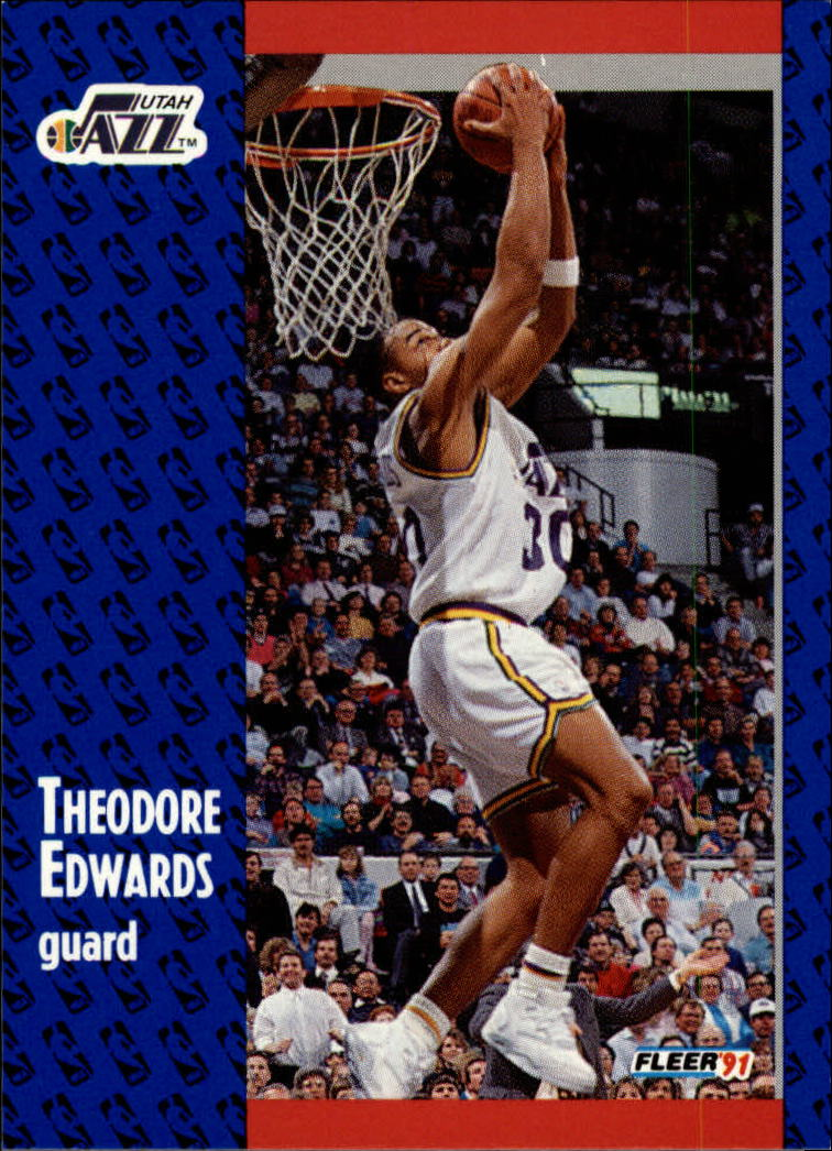 1991-92 Fleer #199 Blue Edwards