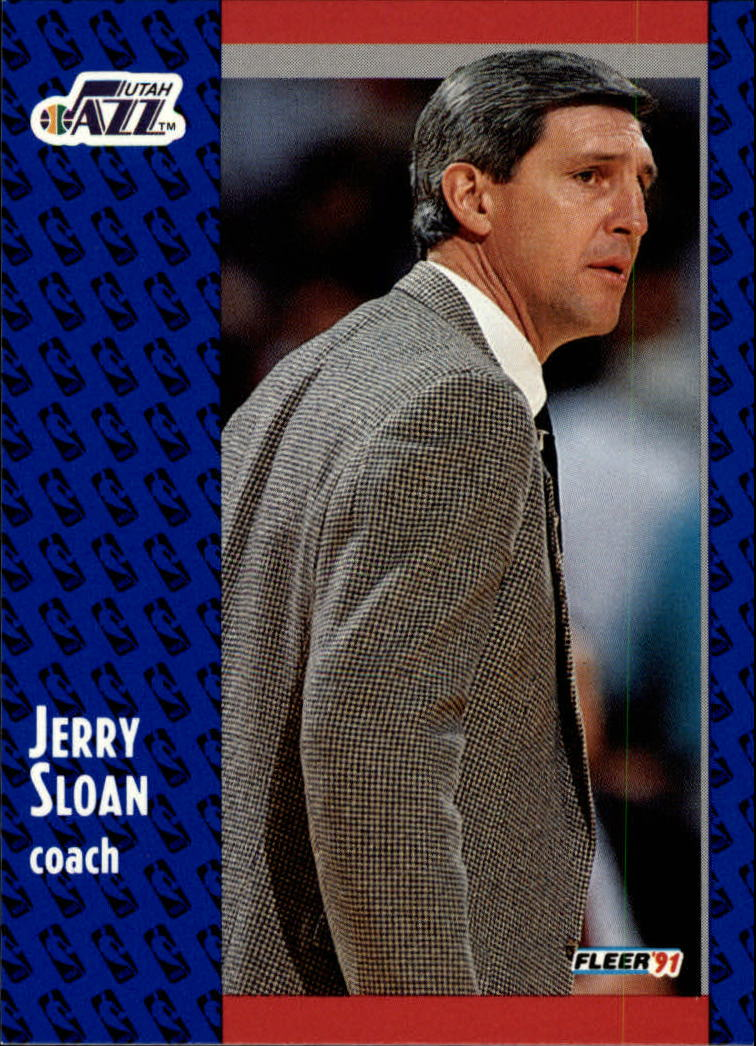 1991-92 Fleer #202 Jerry Sloan CO