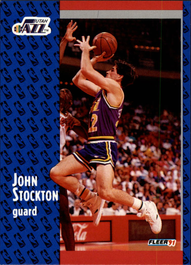 1991-92 Fleer #203 John Stockton