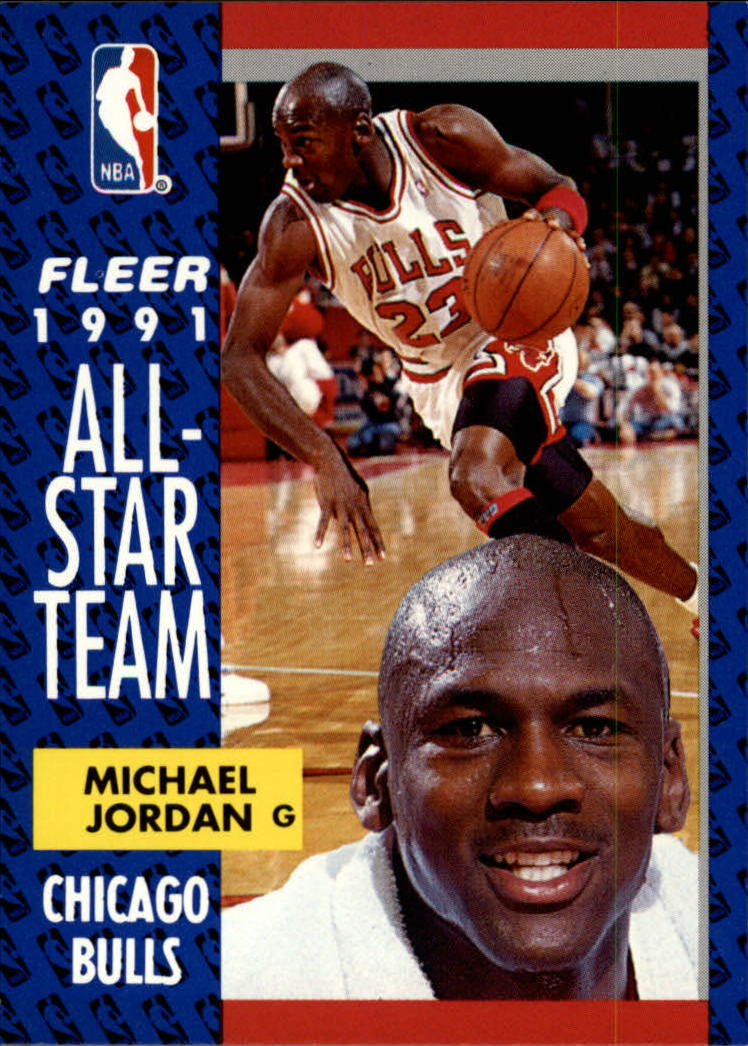 1991-92 Fleer #211 Michael Jordan AS front image