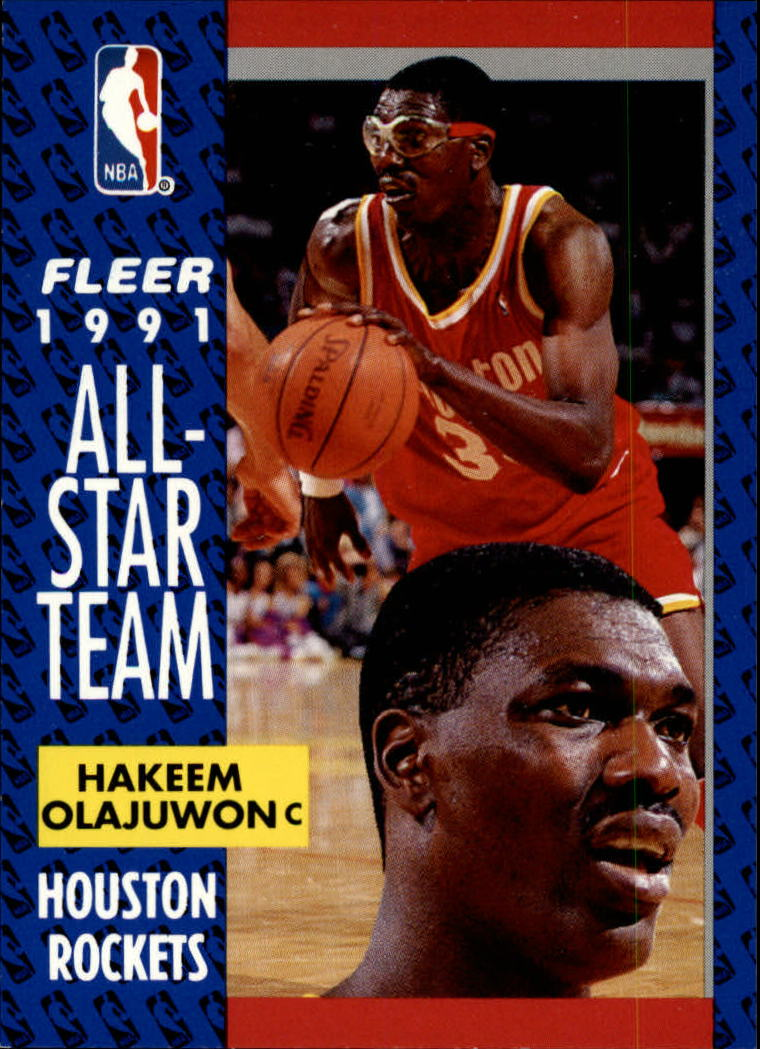 1991-92 Fleer #214 Hakeem Olajuwon AS