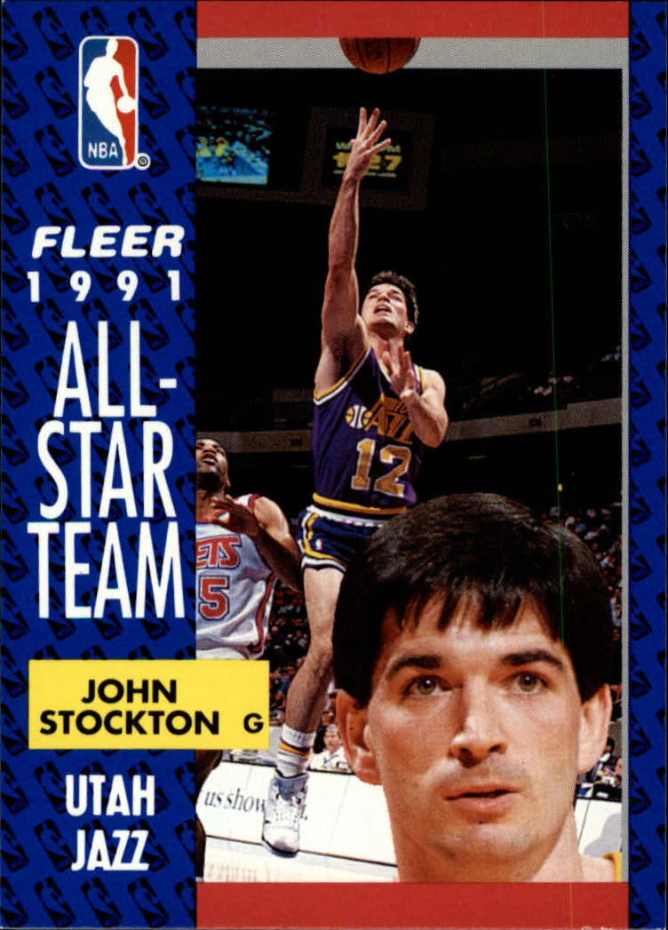 1991-92 Fleer #217 John Stockton AS