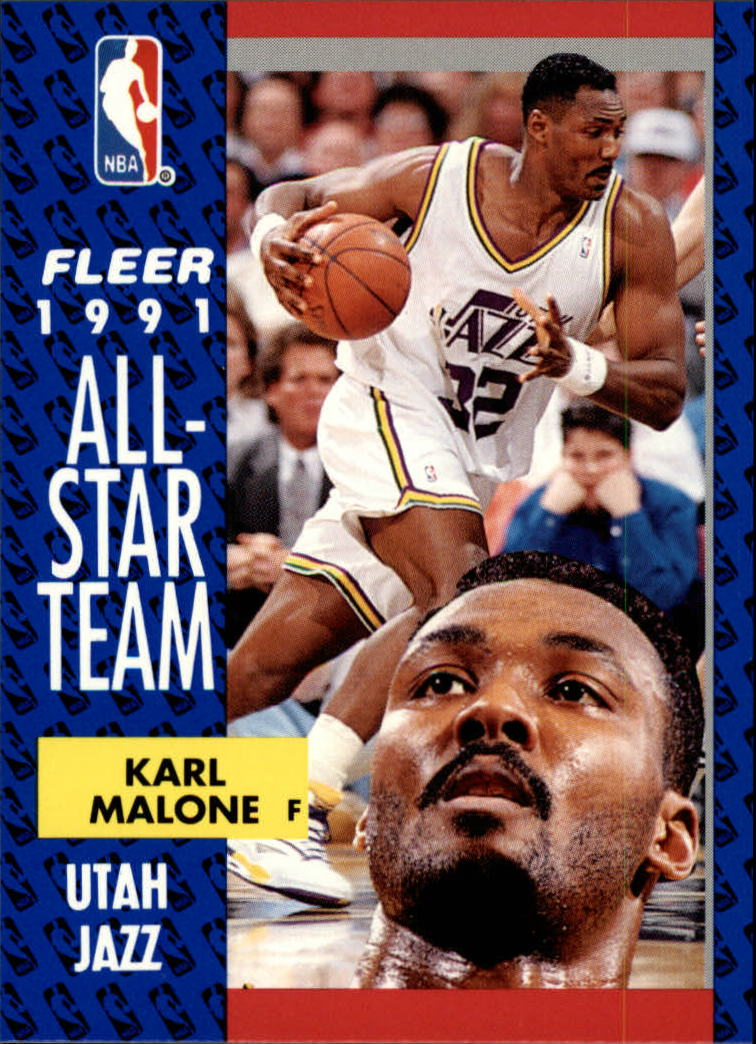 1991-92 Fleer #219 Karl Malone AS