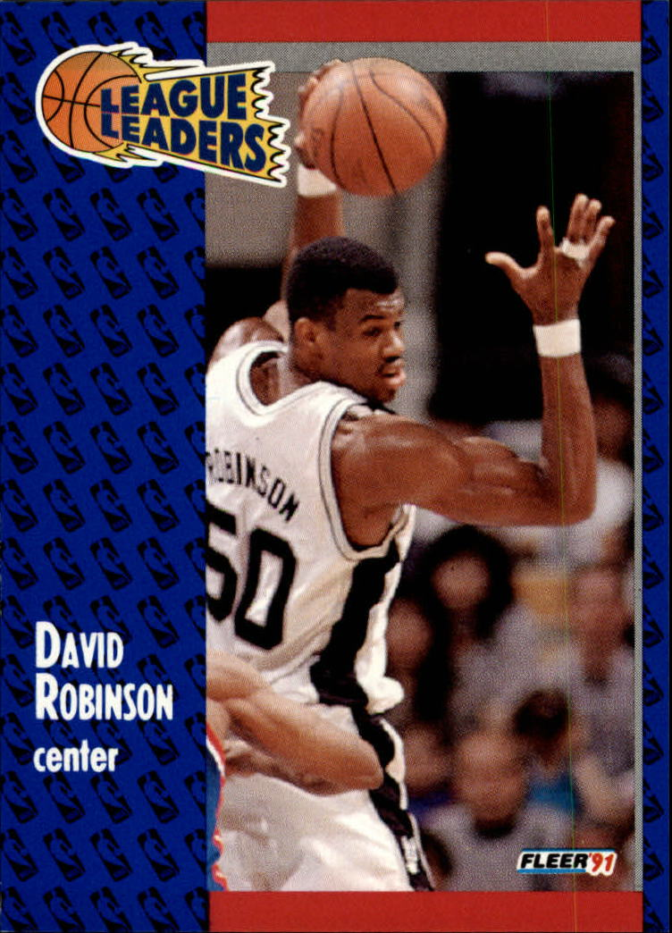 1991-92 Fleer #225 David Robinson LL