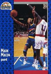 1991-92 Fleer #276 Mark Macon RC
