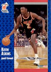 1991-92 Fleer #305 Keith Askins RC