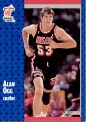 1991-92 Fleer #308 Alan Ogg