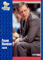 1991-92 Fleer #312 Frank Hamblen CO