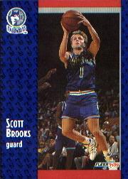 1991-92 Fleer #318 Scott Brooks