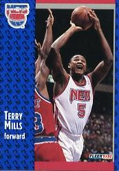 1991-92 Fleer #324 Terry Mills RC
