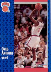 1991-92 Fleer #325 Greg Anthony RC