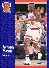 1991-92 Fleer #326 Anthony Mason RC