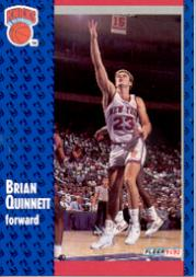 1991-92 Fleer #329 Brian Quinnett