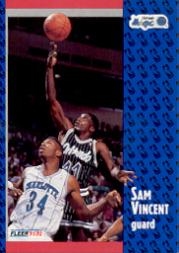 1991-92 Fleer #333 Sam Vincent