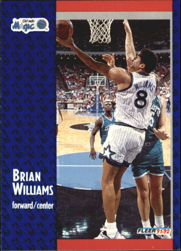 1991-92 Fleer #334 Brian Williams RC