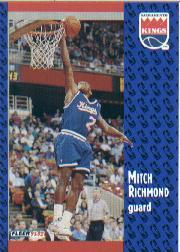 1991-92 Fleer #350 Mitch Richmond