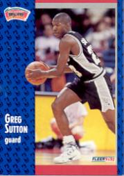 1991-92 Fleer #356 Greg Sutton RC