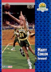 1991-92 Fleer #359 Marty Conlon RC