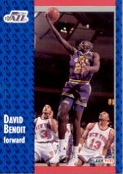 1991-92 Fleer #362 David Benoit RC