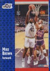 1991-92 Fleer #363 Mike Brown