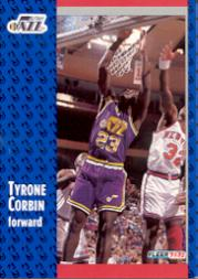 1991-92 Fleer #364 Tyrone Corbin