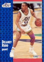 1991-92 Fleer #366 Delaney Rudd