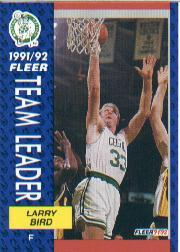 1991-92 Fleer #373 Larry Bird TL