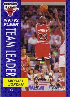 1991-92 Fleer #375 Michael Jordan TL