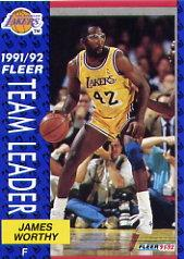1991-92 Fleer #384 James Worthy TL