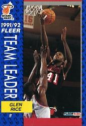 1991-92 Fleer #385 Glen Rice TL