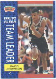 1991-92 Fleer #395 David Robinson TL