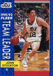 1991-92 Fleer #397 John Stockton TL