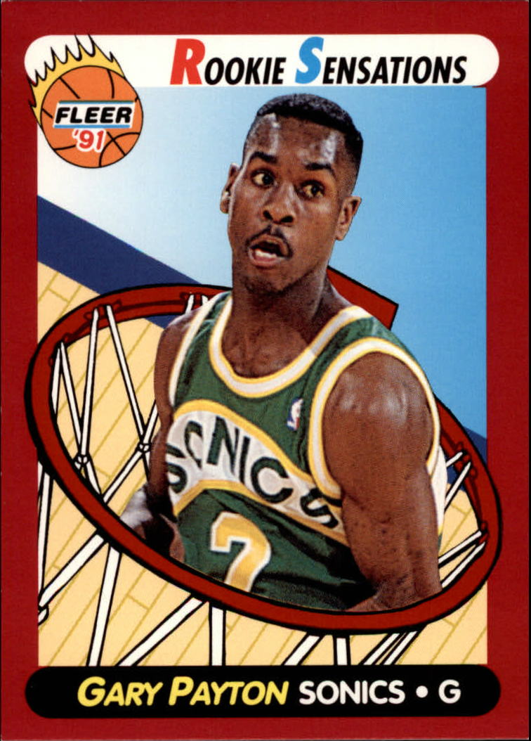 1991-92 Fleer Rookie Sensations #9 Gary Payton