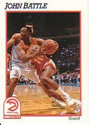 1991-92 Hoops #1 John Battle