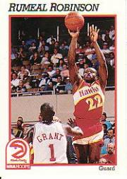 1991-92 Hoops #5 Rumeal Robinson UER