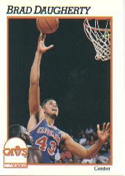 1991-92 Hoops #36 Brad Daugherty
