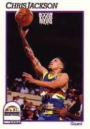 1991-92 Hoops #52 Chris Jackson UER/(Born in Mississippi, not Michigan)