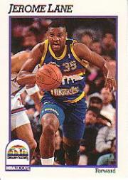 1991-92 Hoops #53 Jerome Lane