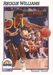 1991-92 Hoops #56 Reggie Williams