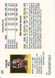 1991-92 Hoops #69 Tyrone Hill