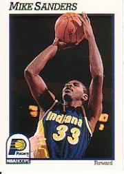 1991-92 Hoops #86 Mike Sanders